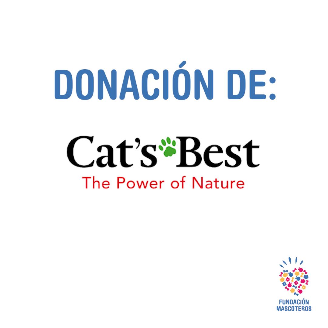 Más de 1.200 kg de arena donados por Cat's Best son enviados a protectoras